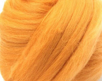 Merino Wool Combed Top/Roving by the Ounce or by the Pound - Peach