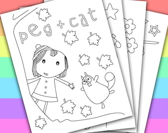 Items similar to custom birthday invitation peg cat for Peg cat coloring pages