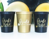 Bride Tribe Stadium Cups, Bachelorette Party, Bachelorette Cup, Bachelorette Gift, Hen Party, Bridal Shower, bridesmaid gift, bride gift