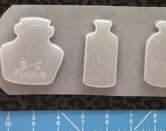Poison bottles mold