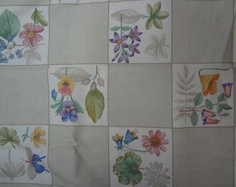 Fabric, Botanical Tile, Longaberger, Longaberger Fabric, Floral Fabric, Fabric by the Yard
