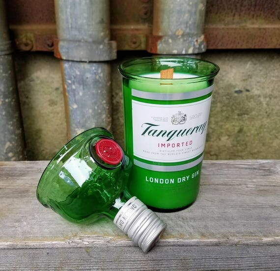 Tanqueray Gin Repourposed Bottle Candle
