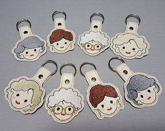 Golden Ladies Key Chains