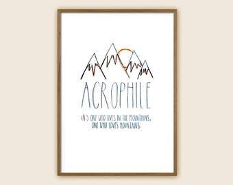 "Mountain Art Print: ""Acrophile"""