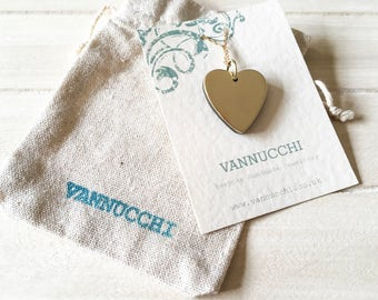 Vannucchi - Walnut and Brass 'Zia' Heart Necklace