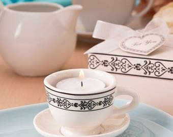 Tea Cup Favor Candle (Pack of 5) Bridal Shower Favors Tea Party