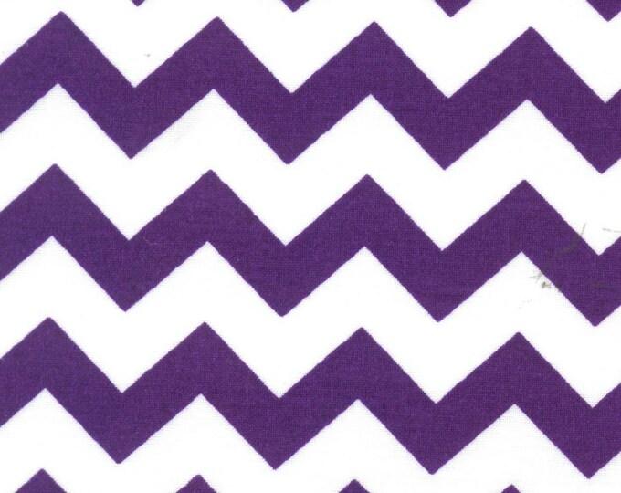 fabric by the yard, purple chevron fabric,purple and white fabric, cotton fabric, purple fabric, purple chevron fabric
