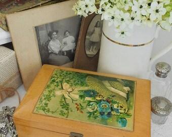 Antique jewellery box, vanity box, storage box