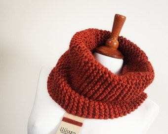 knitted cowl - scarf -handmade - Christmas - gift - knitting - wool