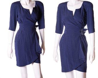 Thierry Mugler Vintage 80s Tiny Star Wrap Dress