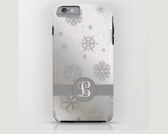 Custom Device case for iPhone / Samsung Galaxy, iPhone 7 /7s, iPhone 6 /6s, Samsung, Galaxy, Phone, Christmas, Gray, Custom, Monogram, Gift