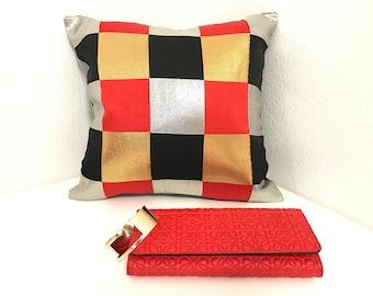 Cushion: Upcycle of vintage Obi (Kimono) 踊り帯リメイククッション