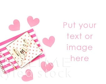 Valentine Styled Photo / Valentine's Day / Styled Stock / Pink / Digital Background / Social Media Images /  Mock up / StockStyle-806