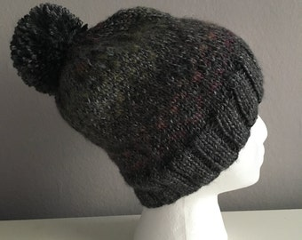 Gray and Ombre Knit Hat