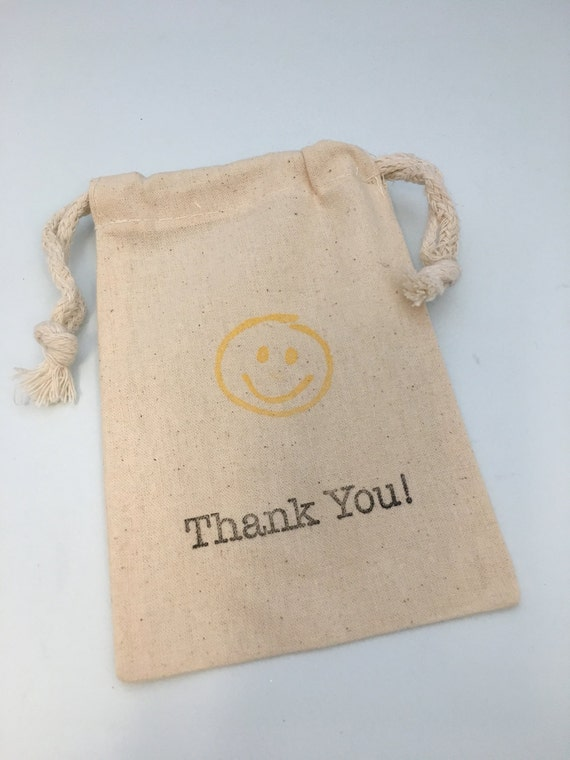 Re-Usable Cloth Emoji Party Favor Bag