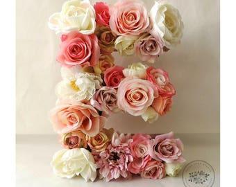 Custom Floral Letter, Floral Letter, Nursery Wall Decor, Baby Shower Decor, Nursery Letter, Nursery Decor, Flower Letter, Baby Girl Nursery