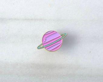 PASTEL SATURN Pin - Enamel Pin, Lapel pin.