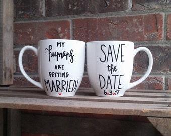 Save The Date | Animal Save The Date | Animal Lovers | Save The Date Mugs | Wedding Date Mugs | Wedding Date Gift