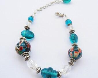 Depths of the Ocean Crystal Bracelet
