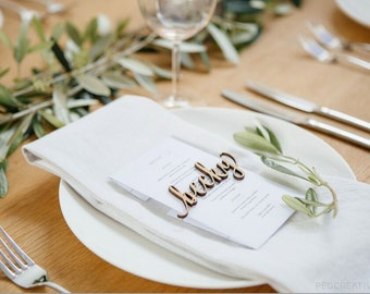 Lasercut Bamboo Place Names - Wedding Table Settings