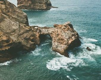 Sagres, Portugal Blue waves, Marine landscape photography art print