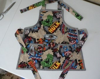 Boys Marvel Comics Apron Boys Super Hero Apron