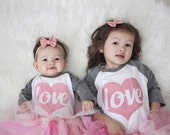 Heart Shirt for Girls - Valentines Day Shirt for Kids - Love Shirt - Valentine Shirt - Girls Valentines Day Outfit -