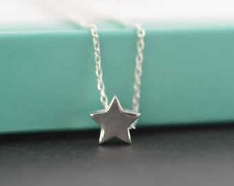 Dainty Star necklace. Wish Star necklace. Tiny Star charm necklace. Little Star Sterling Silver necklace. Minimalist & Layering necklace