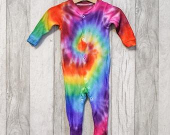 Spiral Tie Dye Baby Grow Sleepsuit