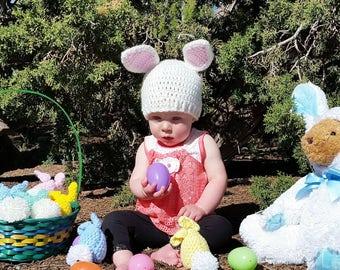 Bunny Hat, Easter Bunny Hat, Easter Hat, Easter Baby Hat, Easter Bunny, Easter, Spring Baby Hat, Spring Hat, Rabbit Hat