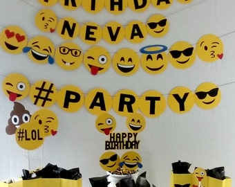 Emoji Birthday Party Package - party supplies - decorations