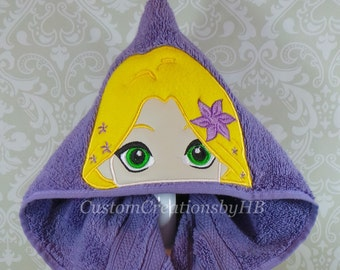 Rapunzel Tangled Inspired Hooded Towel on High Quality Belk Department Store Towel