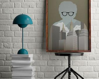 Woody Allen poster, Manhattan print for home decor, Woody Allen alternative movie poster