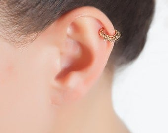 Tribal tragus earring. tragus hoop. helix earring. cartilage earring. tiny hoops.