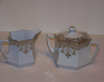Vintage C.S. Prussia China Sugar and Creamer