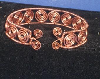 Copper Swirl Cuff