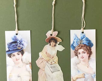 Victorian Ladies Bookmarks Old Print Factory