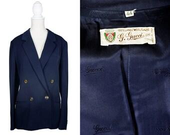 Vintage GUCCI blazer Vintage blazer Designer blazer Vintage Navy Blazer Gucci jacket Vintage Navy Jacket Vintage Designer clothing