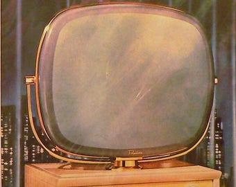 1958 Philco TV Ad Matted Vintage Print