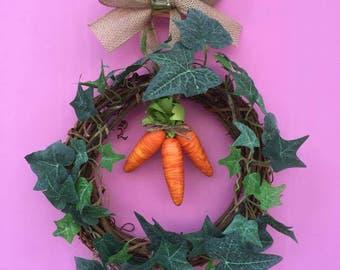 Easter Carrot Wreath, Carrot Wreath, Easter Wreath, Easter Door Wreath, Easter Carrot, Easter Door Decor, Easter Door Hanger, Easter Decor