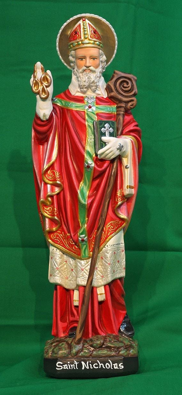 "St. Nicholas 20"" Catholic Christian Religious Plaster Saints Statue"
