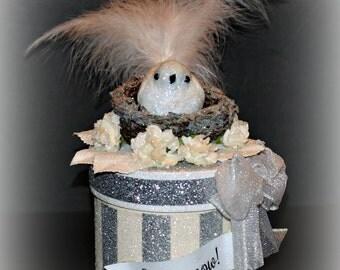 Christmas Bird Gift Box, Bird Box, Memento Box, Christmas Decor Box, Unique Gift Box