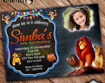 Lion King Invitation Etsy - Lion king birthday invitation template free