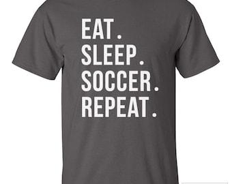 Soccer Shirt, Eat Sleep Soccer Repeat Shirt - 202