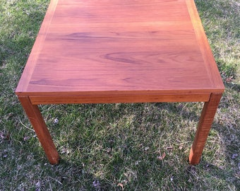 Mid Century Modern Teak Side Table, Large Danish Modern Teak Side Table Or Small  Coffee