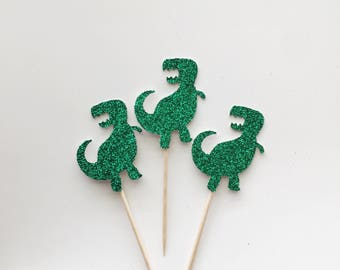 Dinosaur Cupcake Toppers-Dinos - Anniversary -Birthday-Donut Toppers-Decorations-Party-Decor - Dessert Table - Sweets
