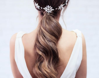 Bridal Headpiece, Wedding Headband, Bridal Hair piece, Wedding Tiara, Bridal Hair Vine, Wedding Hair Accessory, Wedding Hair Halo