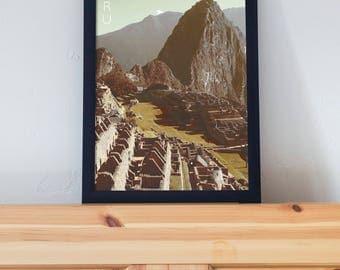 Macchu Picchu Peru Poster 11x17 18x24 24x36