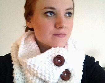 Knit Winter Scarf - Women's, White