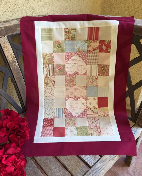 18 x 26 1 4 valentines diy table topper for Diy valentine table runner